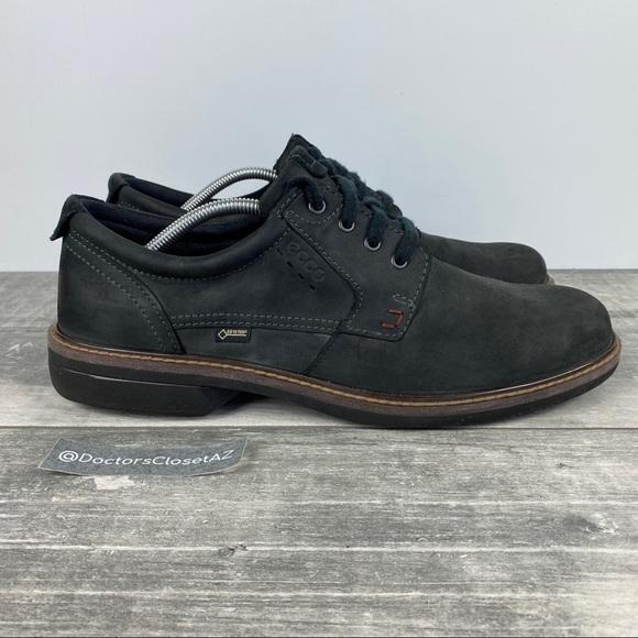 Ecco Gore-Tex Black Suede Oxford Walking Shoes 13